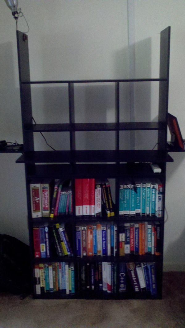 Finished desk: frontal view